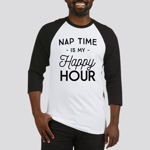 Nap time is my happy hour Baseball Jersey