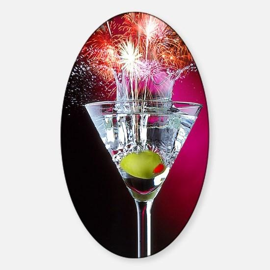 First Martini Sticker (Oval)