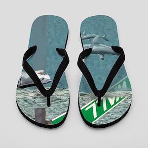 Sharks of Wall Street Flip Flops