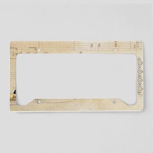 Johann Sebastian Bach Histori License Plate Holder