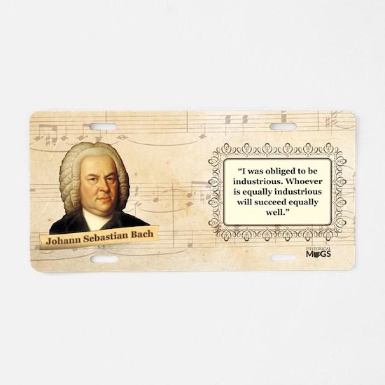 Johann Sebastian Bach Histo Aluminum License Plate
