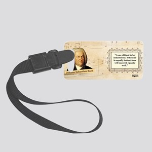 Johann Sebastian Bach Historical Small Luggage Tag