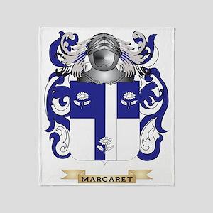 Margaret Coat of Arms - Family Crest Throw Blanket