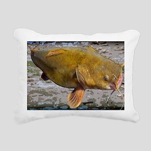 Flathead Catfish Rug Rectangular Canvas Pillow