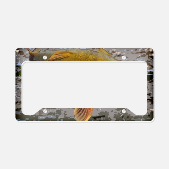 Flathead Catfish Rug License Plate Holder