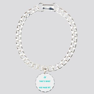 GIRLS ARE MADE OF - TEAL Charm Bracelet, One Charm