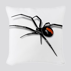 Red Back Spider Woven Throw Pillow