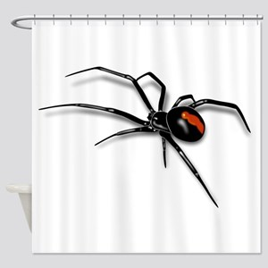 Red Back Spider Shower Curtain