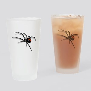 Red Back Spider Drinking Glass