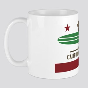 California Surfing Bear Longboard Mug