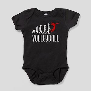 Volleyball Evolution (Red) Baby Bodysuit