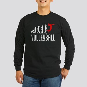 Volleyball Evolution (Red) Long Sleeve T-Shirt