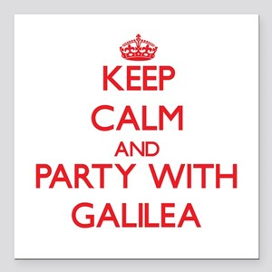 Keep Calm and Party with Galilea Square Car Magnet