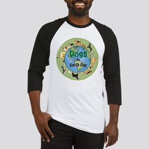 Earth Day Dogs Baseball Jersey