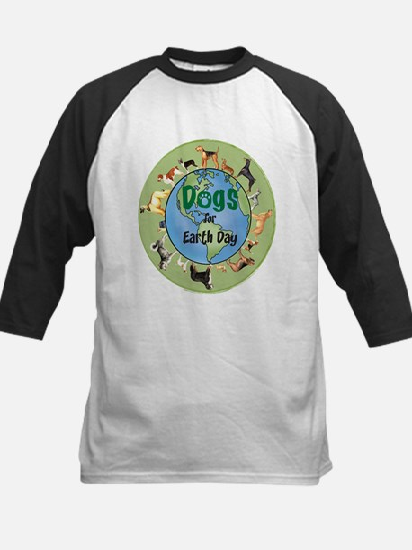 Earth Day Dogs Kids Baseball Jersey