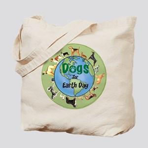 Earth Day Dogs Tote Bag