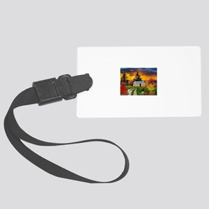 Spooky House Large Luggage Tag
