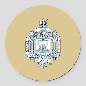U.S. Naval Academy Crest Round Car Magnet