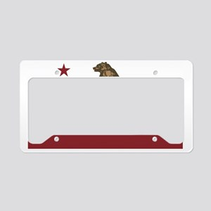 California Surfing Bear License Plate Holder