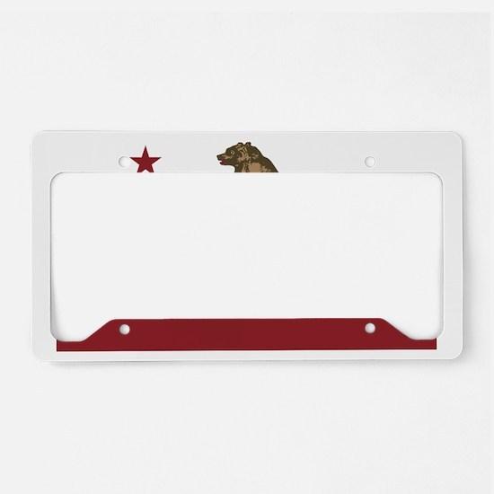 California Surfing Bear License Plate Holder