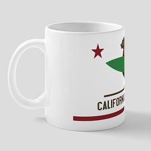 California Surfing Bear Mug