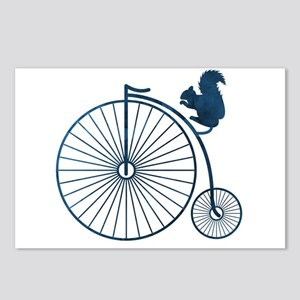 Squirrel on a high wheel Postcards (Package of 8)