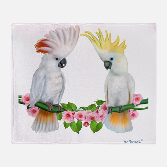 Cockatoo Throw Blanket
