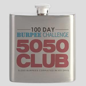 100 Day Burpee Challenge 5050 Club Flask