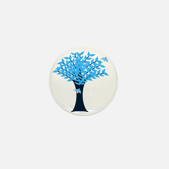Bluebird Tree Mini Button