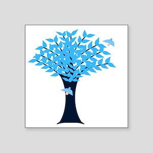 "Bluebird Tree Square Sticker 3"" x 3"""