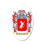 Ermanno 20x12 Oval Wall Decal