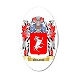 Ermanno 35x21 Oval Wall Decal