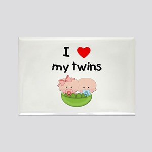 I love my twins (3) Rectangle Magnet