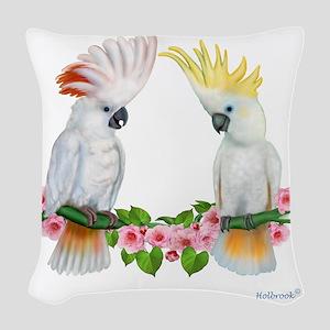 Cockatoo Woven Throw Pillow