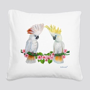 Cockatoo Square Canvas Pillow