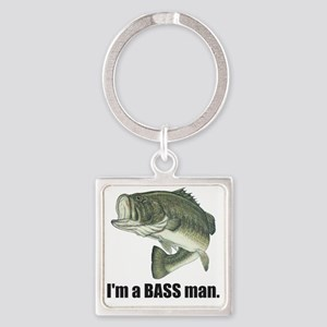 bass man Square Keychain