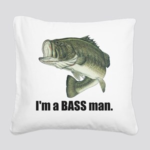 bass man Square Canvas Pillow