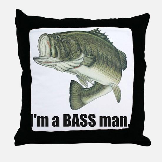 bass man Throw Pillow