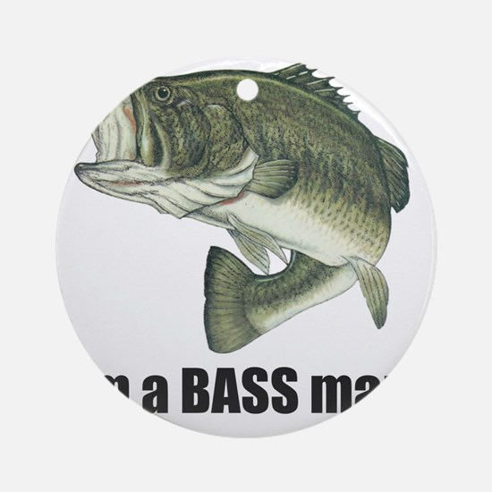 bass man Round Ornament