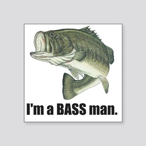 "bass man Square Sticker 3"" x 3"""