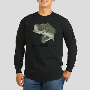 bass man Long Sleeve Dark T-Shirt