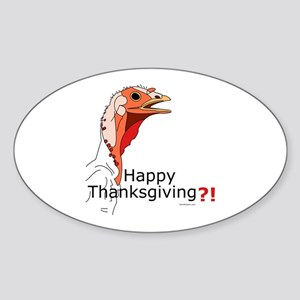 Thanksgiving Oval Sticker