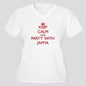 Keep Calm and Party with Jamya Plus Size T-Shirt
