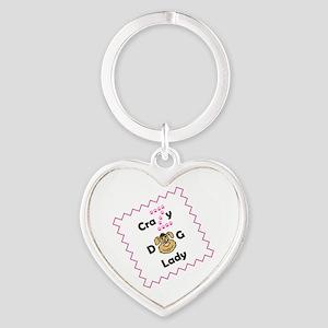 Crazy Z Dog Lady Keychains