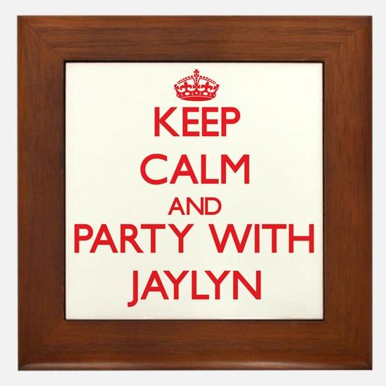 Keep Calm and Party with Jaylyn Framed Tile