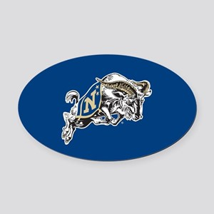 U.S. Naval Academy Bill the Goat Oval Car Magnet