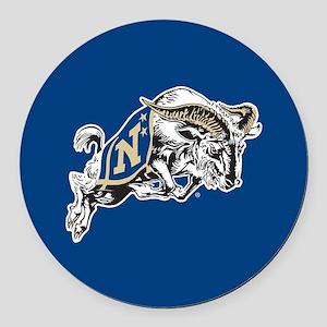 U.S. Naval Academy Bill the Goat Round Car Magnet