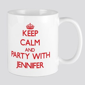 Keep Calm and Party with Jennifer Mugs