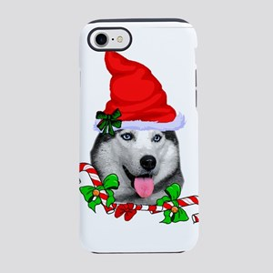 Siberian Husky Christmas iPhone 7 Tough Case