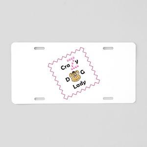 Crazy Z Dog Lady Aluminum License Plate